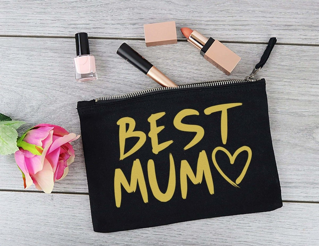 Best Mum - Canvas Accessory Make Up & Purse Pouch - Gift For Her, Gift For Mum, Gift for Girlfriend - The Gift Project