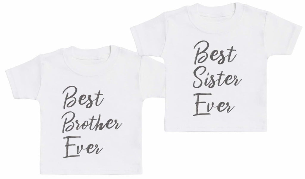 Best Sibling Ever - Matching Kids Set - Baby / Kids T-Shirts - Gift Set - The Gift Project