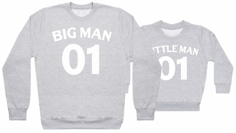 Big And Little Man 01 - Matching Set - Baby / Kids Sweater & Dad Sweater - The Gift Project