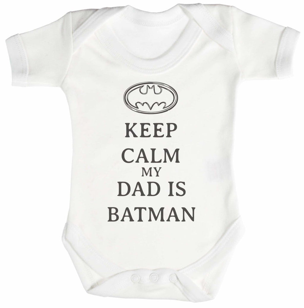 Calm My Dad Is Batman Baby Bodysuit / Babygrow - The Gift Project