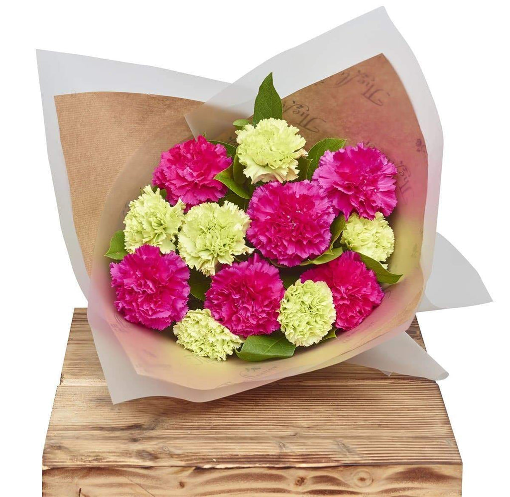 Classic Carnations Pinks Flower Gift Wrap - The Gift Project
