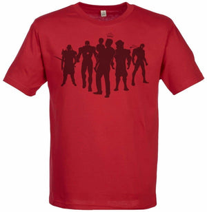 Dad with Superhero Personalities Men's Crew Neck T-Shirt - The Gift Project