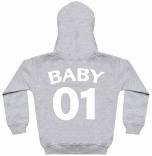 Daddy 01 Baby 01 - Matching Set - Baby / Kids Hoodie & Dad Hoodie - The Gift Project