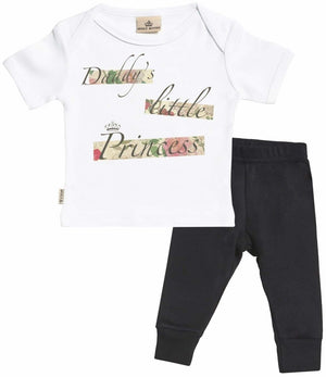 Daddys Little Princess Baby Set - Baby T-Shirt & Baby Jersey Trousers - The Gift Project