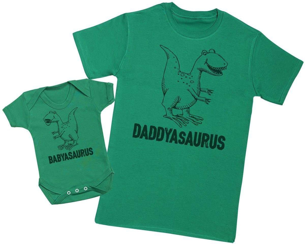 Daddysaurus & Babysaurus - Mens T Shirt & Baby Bodysuit - The Gift Project