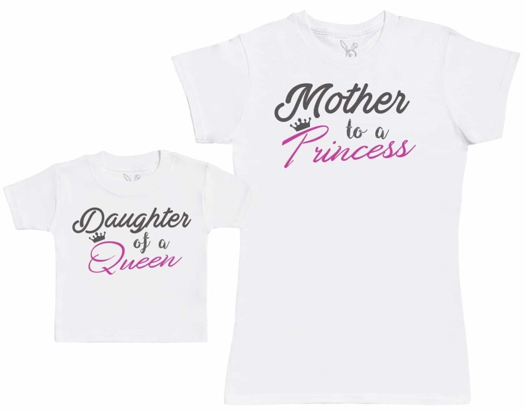 Daughter Of A Queen - Matching Set - Baby / Kids T-Shirt & Dad T-Shirt - The Gift Project