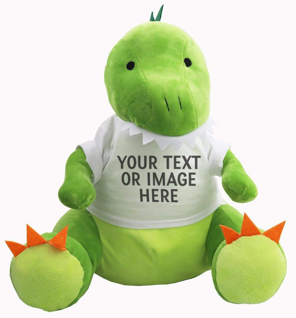 Dinosaur Teddy With Personalised Removable T-Shirt - The Gift Project