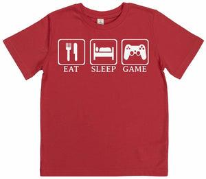 Eat, Sleep, Game - Kid's T Shirt - The Gift Project