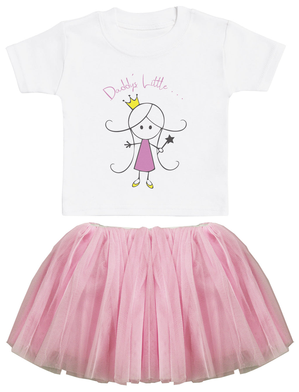 Daddy's Little Princess Baby T-Shirt and Pink Tutu Set