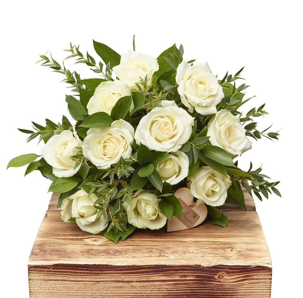 Elegant Whites Dozen White Roses - The Gift Project