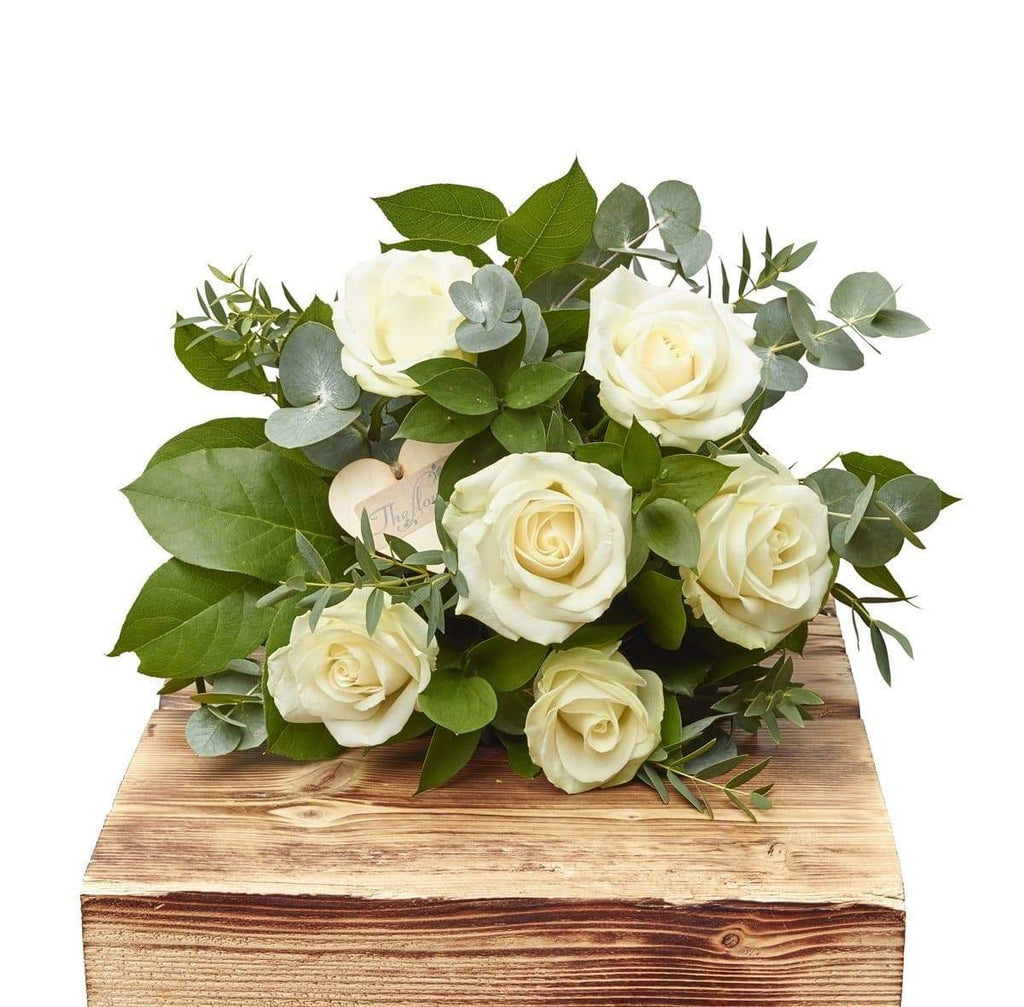 Elegant Whites Half Dozen White Roses - The Gift Project