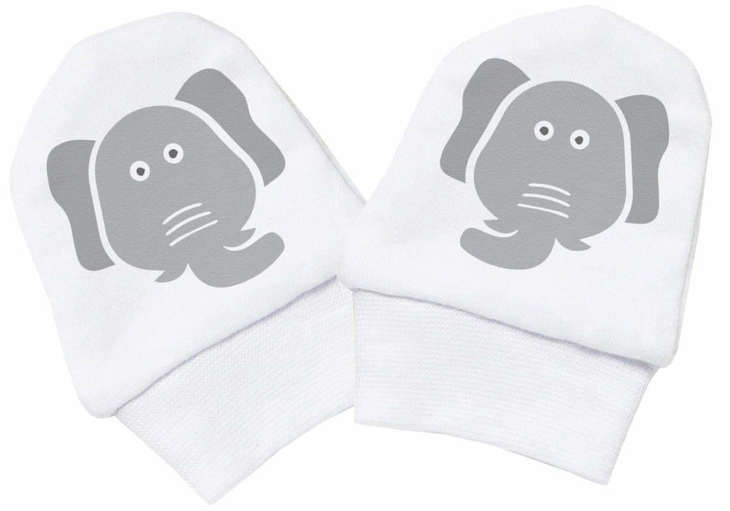 Elephant Face 100% Cotton Scratch Mittens - The Gift Project
