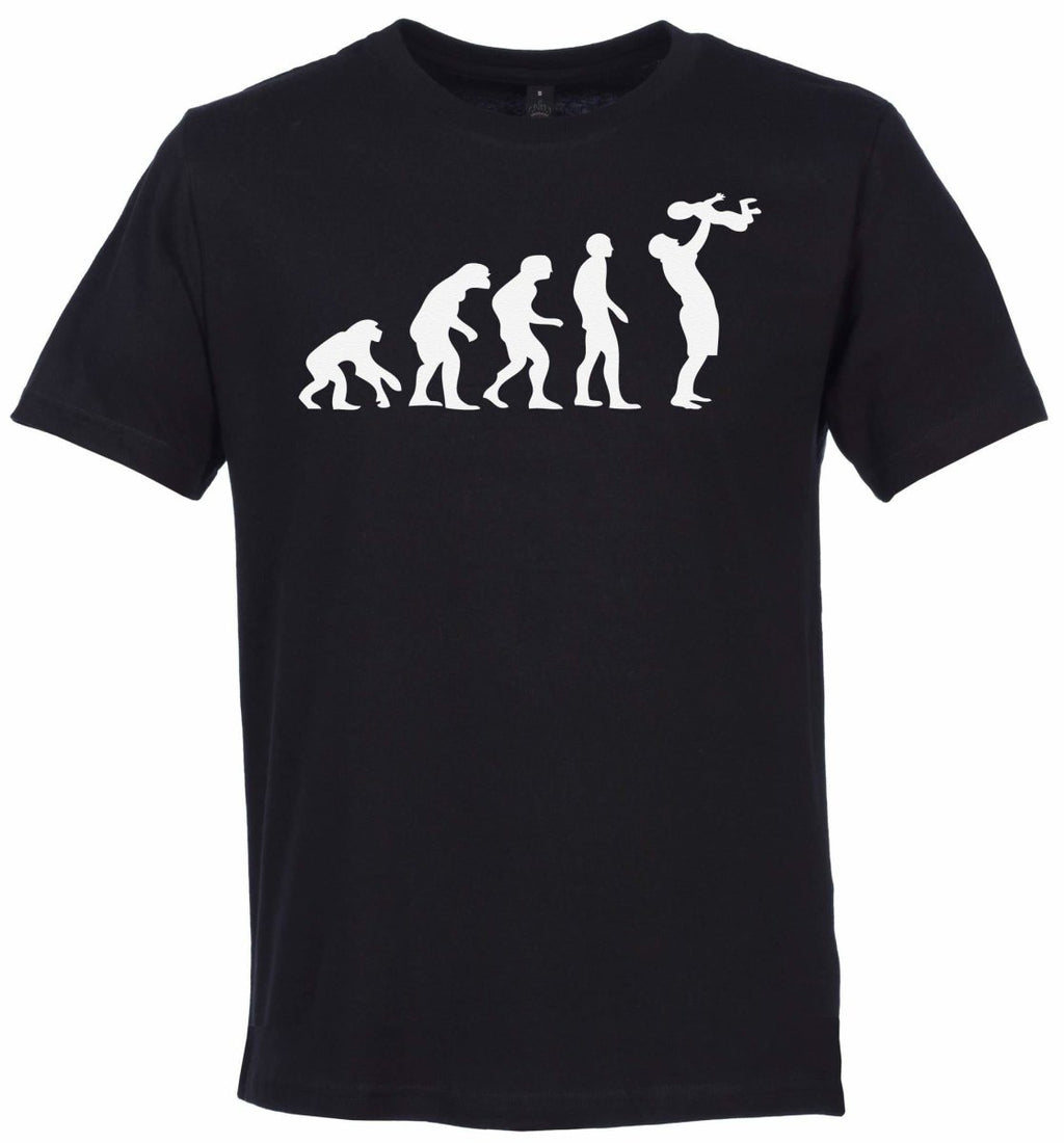 Evolution To A Dad Organic Mens T Shirt - Daddy T Shirt - The Gift Project