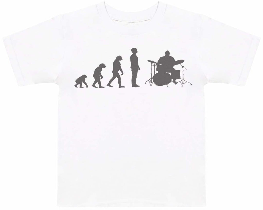 Evolution To A Drummer - Kids T-Shirt - The Gift Project