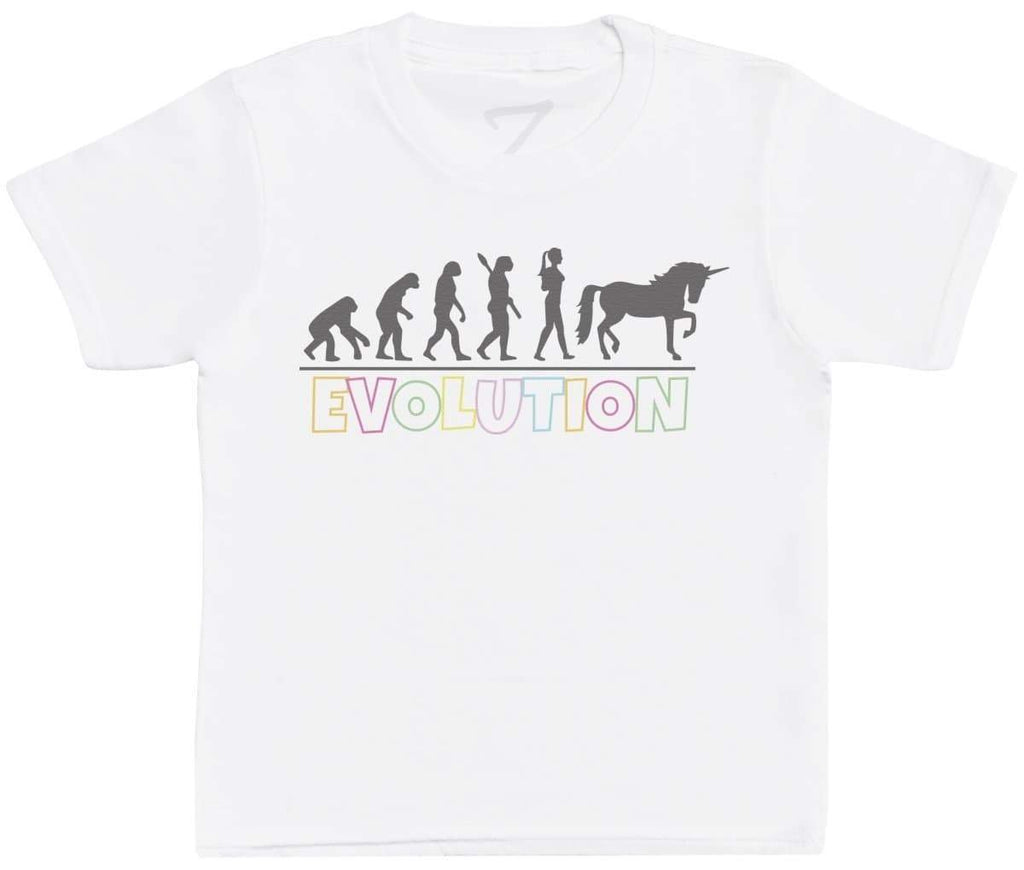 Evolution To A Unicorn - Kids T-Shirt - The Gift Project