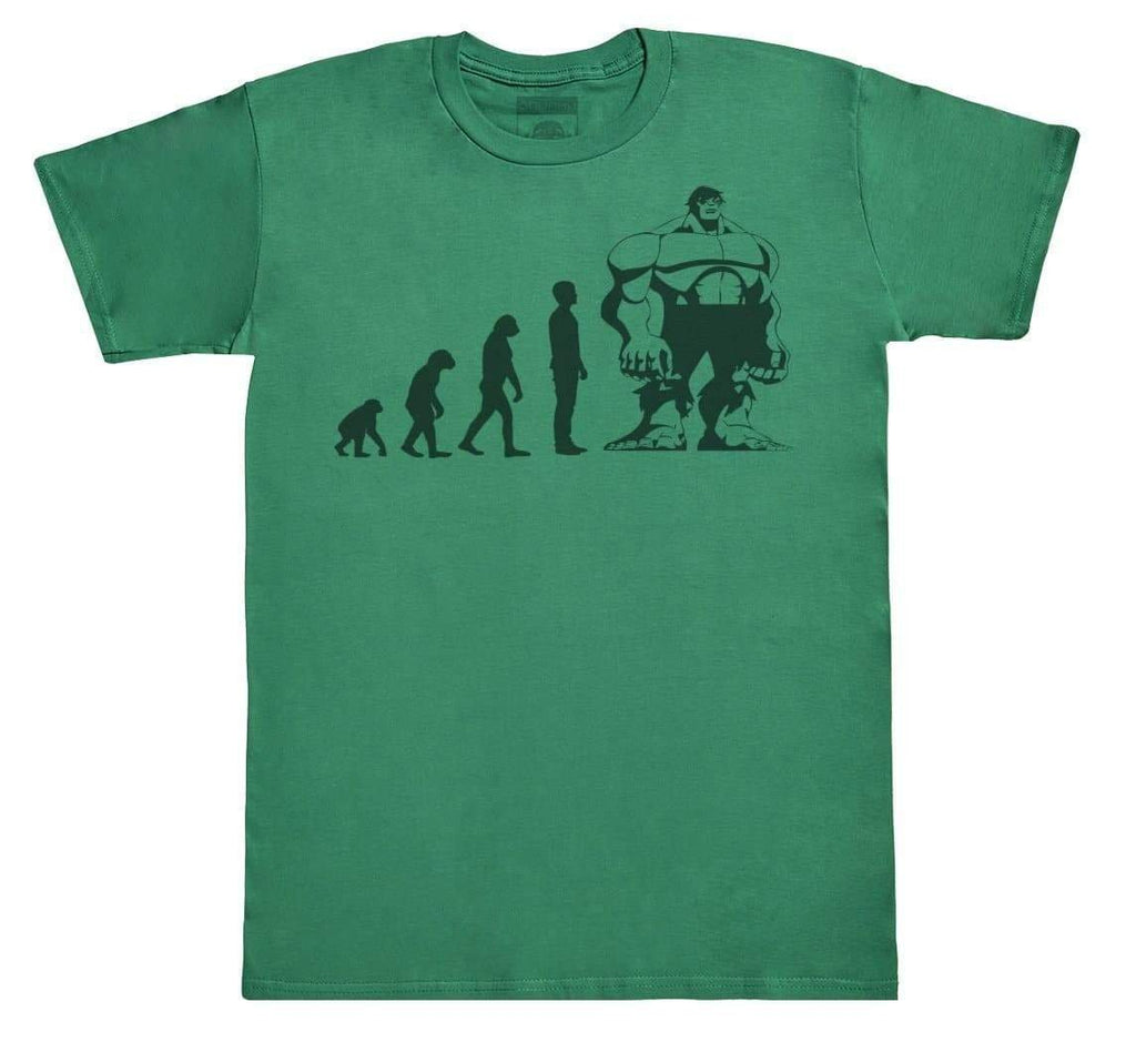 Evolution To Hulk - Mens T-Shirt - The Gift Project