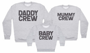Family Crew - Matching Set - Baby / Kids Sweater, Mum & Dad Sweater - The Gift Project