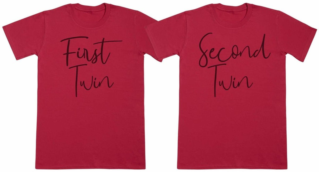 First Twin, Second Twin - Twin Set - Mens T-Shirts - (Sold Separately) - The Gift Project
