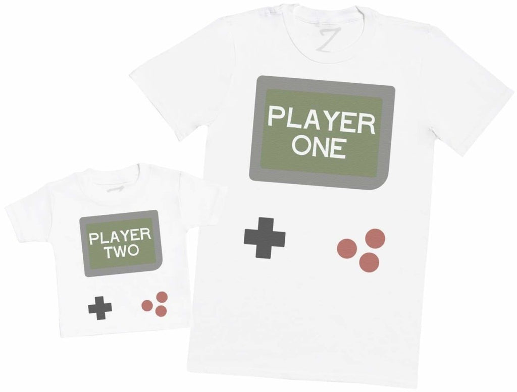 Gamer Player One & Player Two - Mens T Shirt & Kid's T-Shirt - The Gift Project