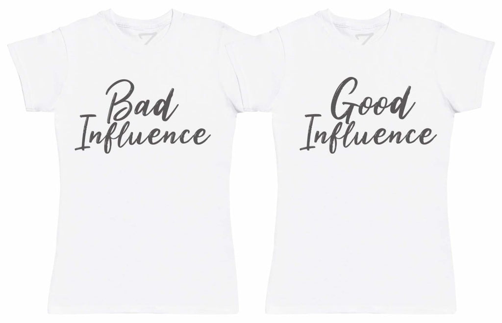 Good And Bad Influence - Twin Set - Womens T-Shirts - (Sold Separately) - The Gift Project