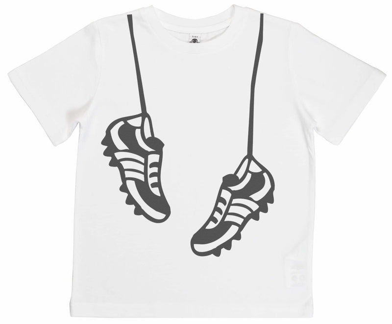Hanging Football Boots Unisex Kid's T-Shirt - The Gift Project