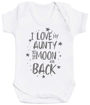 I Love My Aunty To The Moon And Back Baby Bodysuit - The Gift Project