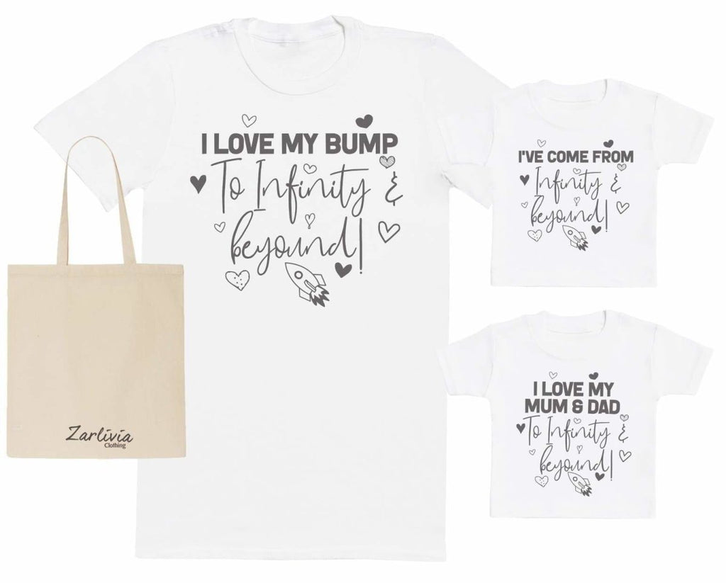 I Love My Bump To Infinity & Beyond Maternity Hospital Gift Set Bag - T-Shirts set - The Gift Project