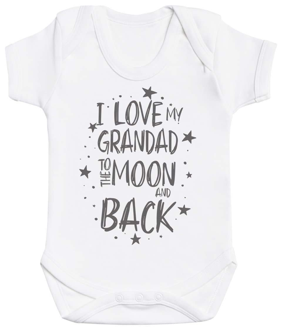 I Love My Grandad To The Moon And Back Baby Bodysuit - The Gift Project