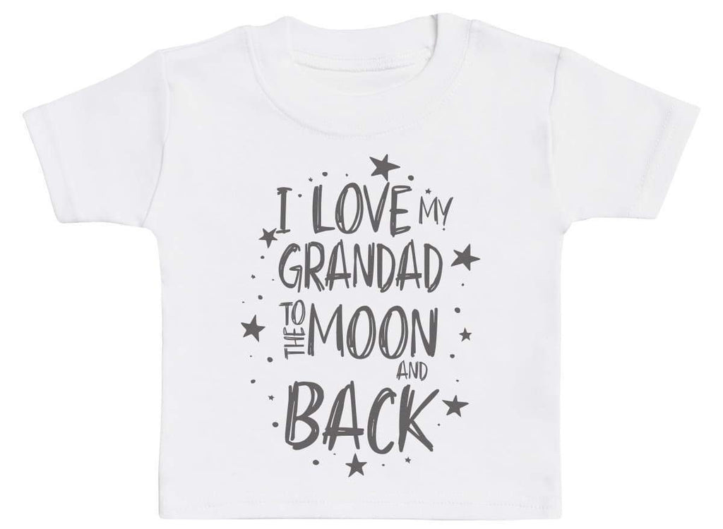 I Love My Grandad To The Moon And Back Baby T-Shirt - The Gift Project
