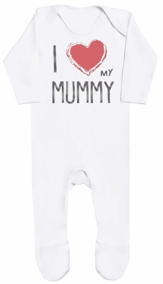 I Love My Mummy Red Heart Baby Romper - The Gift Project