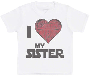 I Love My Sister Star Heart - Kids T-Shirt - The Gift Project