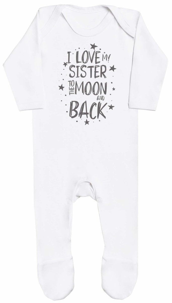 I Love My Sister To The Moon And Back Baby Romper - The Gift Project