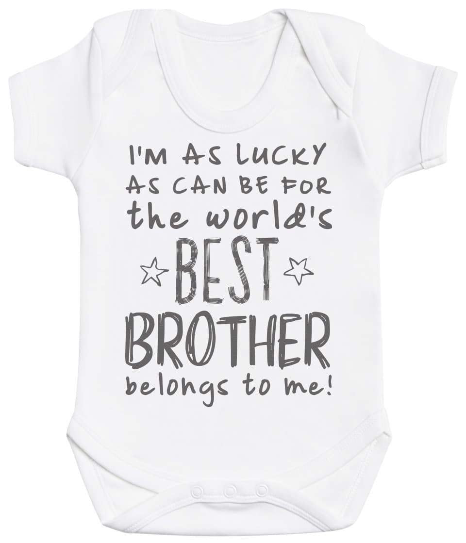 I'm As Lucky As Can Be Best Brother belongs to me! Baby Bodysuit - The Gift Project