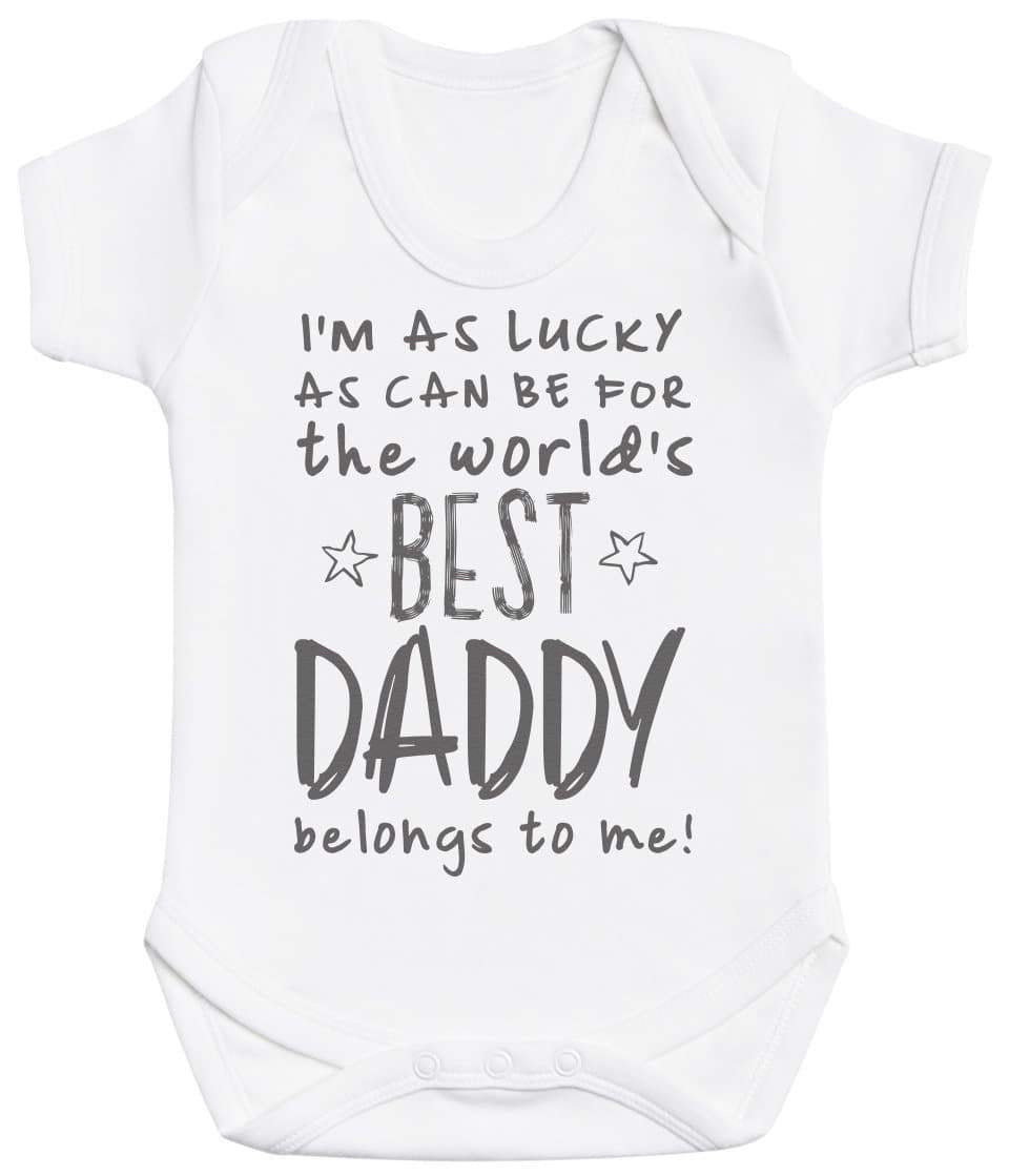 I'm As Lucky As Can Be Best Daddy belongs to me! Baby Bodysuit - The Gift Project