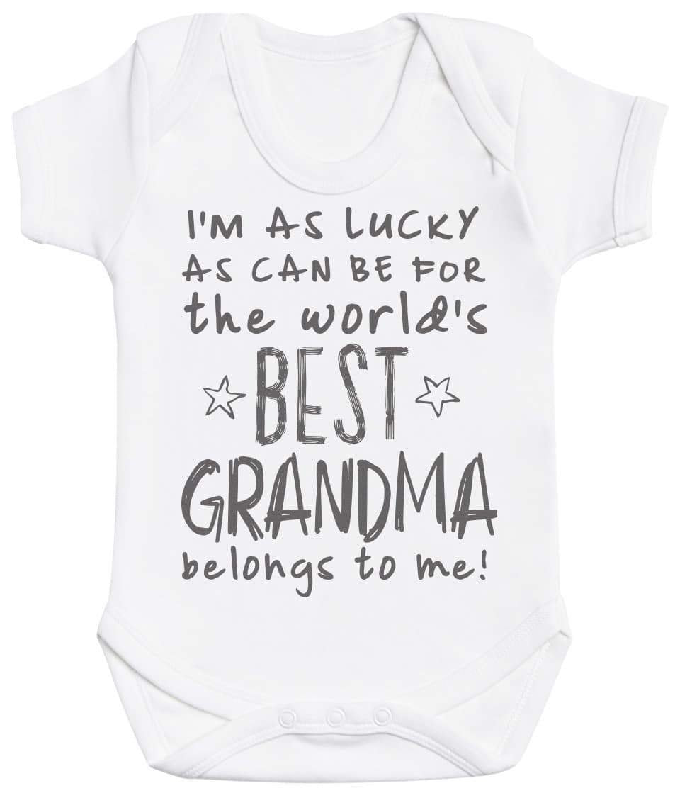 I'm As Lucky As Can Be Best Grandma belongs to me! Baby Bodysuit - The Gift Project