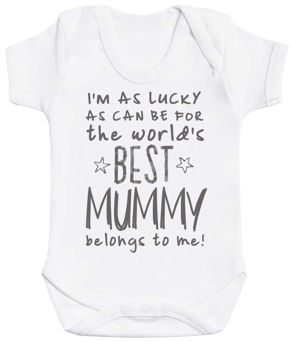 I'm As Lucky As Can Be Best Mummy belongs to me! Baby Bodysuit - The Gift Project