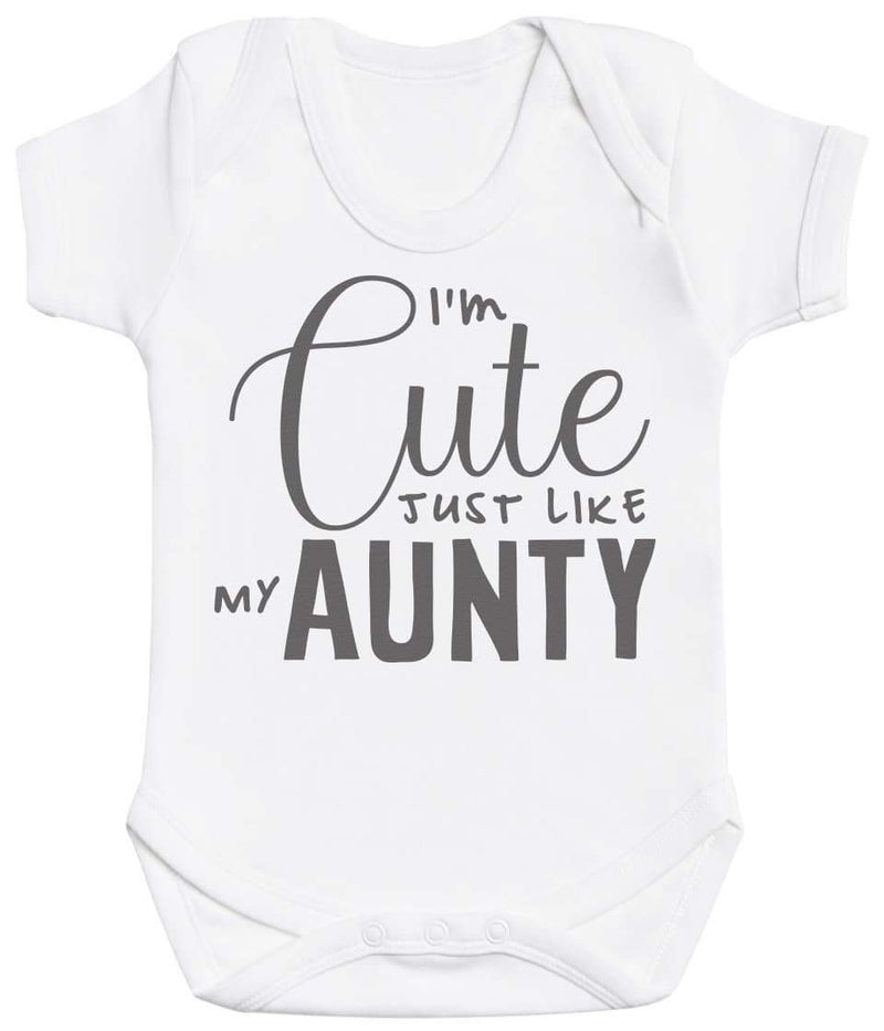 I'm Cute Just Like My Aunty Baby Bodysuit - The Gift Project