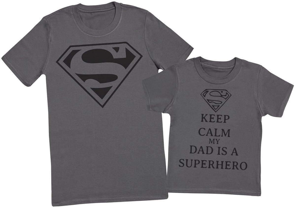 Keep Calm My Dads A Super Hero II - Mens T - Shirt & Kids T - Shirt - The Gift Project