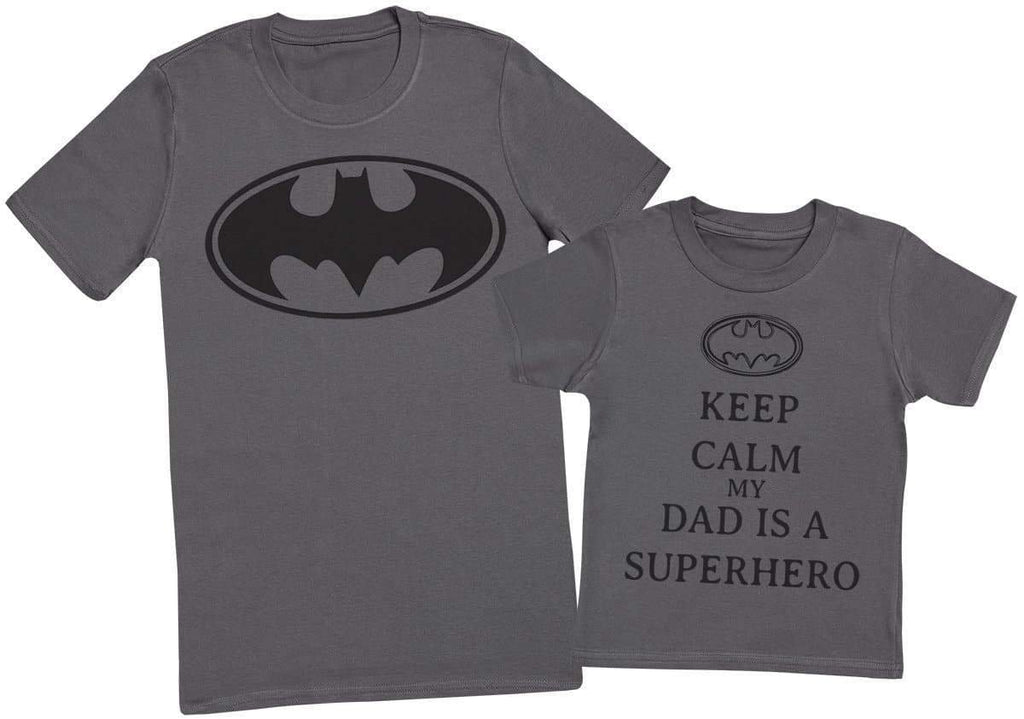 Keep Calm My Dads A Super Hero - Mens T - Shirt & Kids T - Shirt - The Gift Project
