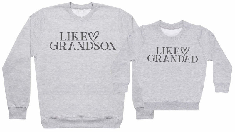 Like Grandson, Like Grandad - Matching Set - Baby / Kids Sweater & Dad Sweater - The Gift Project