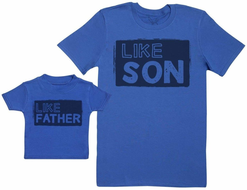 Like Son with Like Father - Baby Gift Set with Baby T - Shirt & Father's T - Shirt - The Gift Project