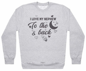 Love Uncle And Nephew To Moon And Back - Matching Set - Baby / Kids Sweater & Dad Sweater - The Gift Project