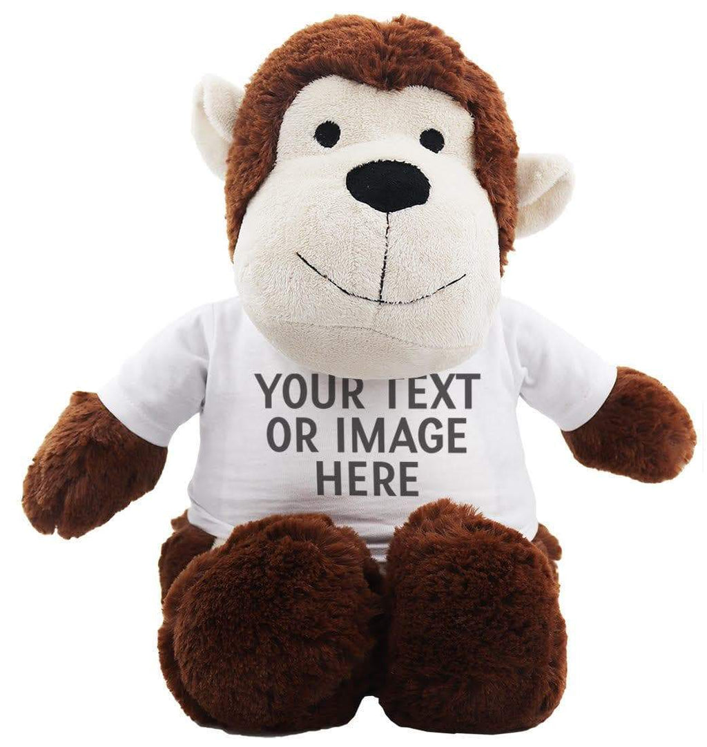 Monkey Teddy With Personalised Removable T-Shirt - The Gift Project