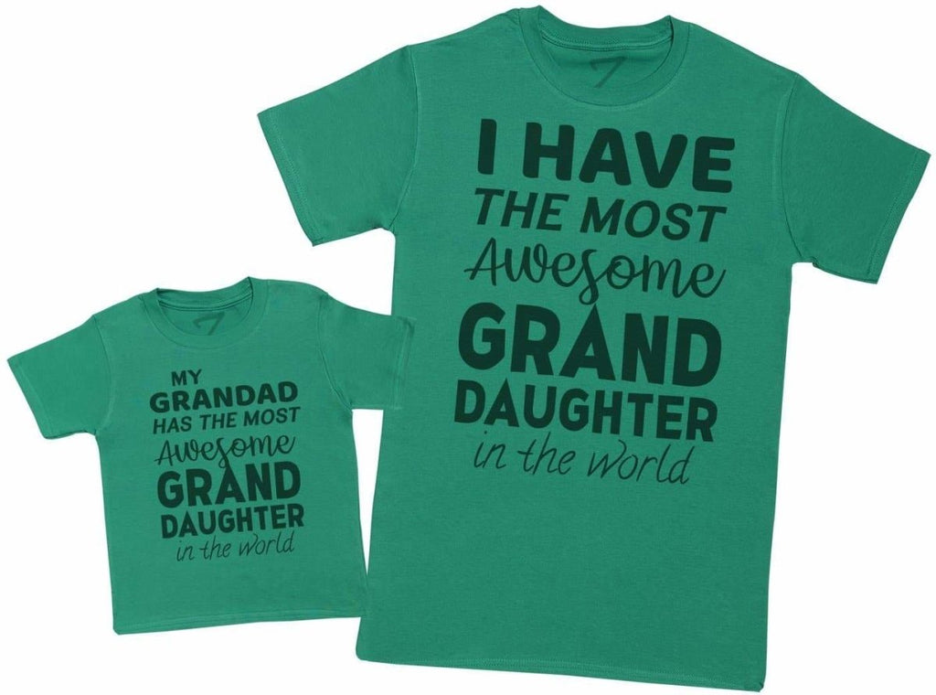 Most Awesome Grandaughter - Matching Set - Baby / Kids T-Shirt & Dad T-Shirt - The Gift Project