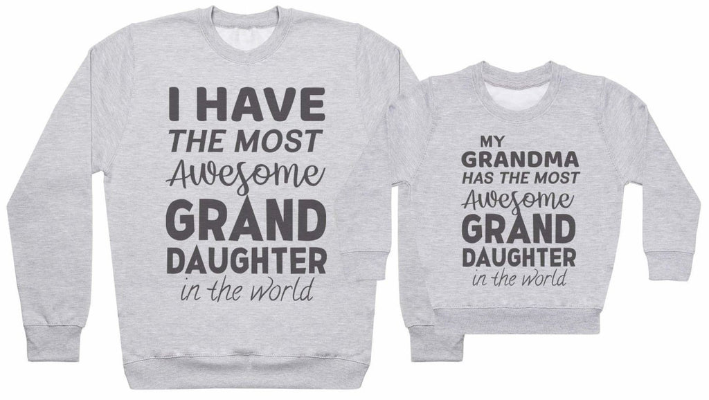 Most Awesome Grandma, Grandaughter - Matching Set - Baby / Kids Sweater & Dad Sweater - The Gift Project