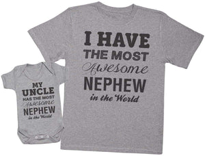 Most Awesome Nephew - Uncle T Shirt & Baby Bodysuit - The Gift Project