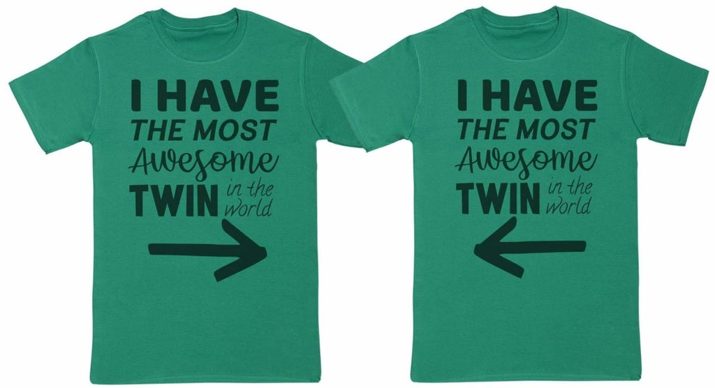 Most Awesome Twins - Twin Set - Mens T-Shirts - (Sold Separately) - The Gift Project