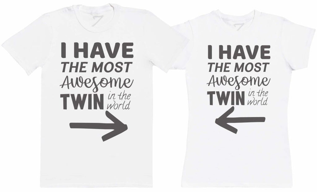 Most Awesome Twins - Twin Set - Mens & Womens T-Shirts - (Sold Separately) - The Gift Project
