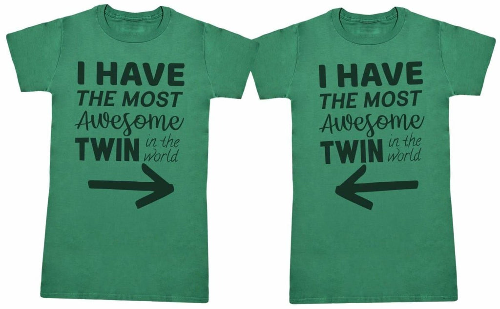 Most Awesome Twins - Twin Set - Womens T-Shirts - (Sold Separately) - The Gift Project