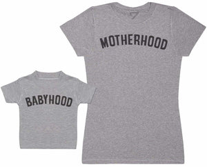 Motherhood And Babyhood - Matching Set - Baby / Kids T-Shirt & Dad T-Shirt - The Gift Project